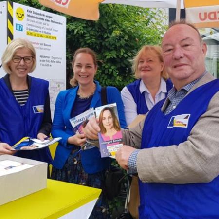 Europawahlkampf mit der CDU-Gropiusstadt August 2019